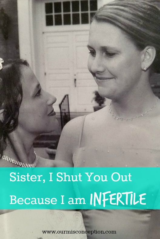 Sister, I Shut You Out Because I am Infertile