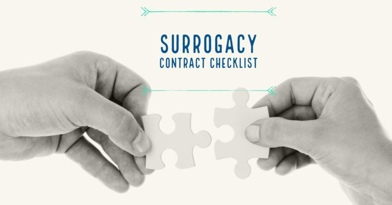 The Surrogacy Contract Checklist